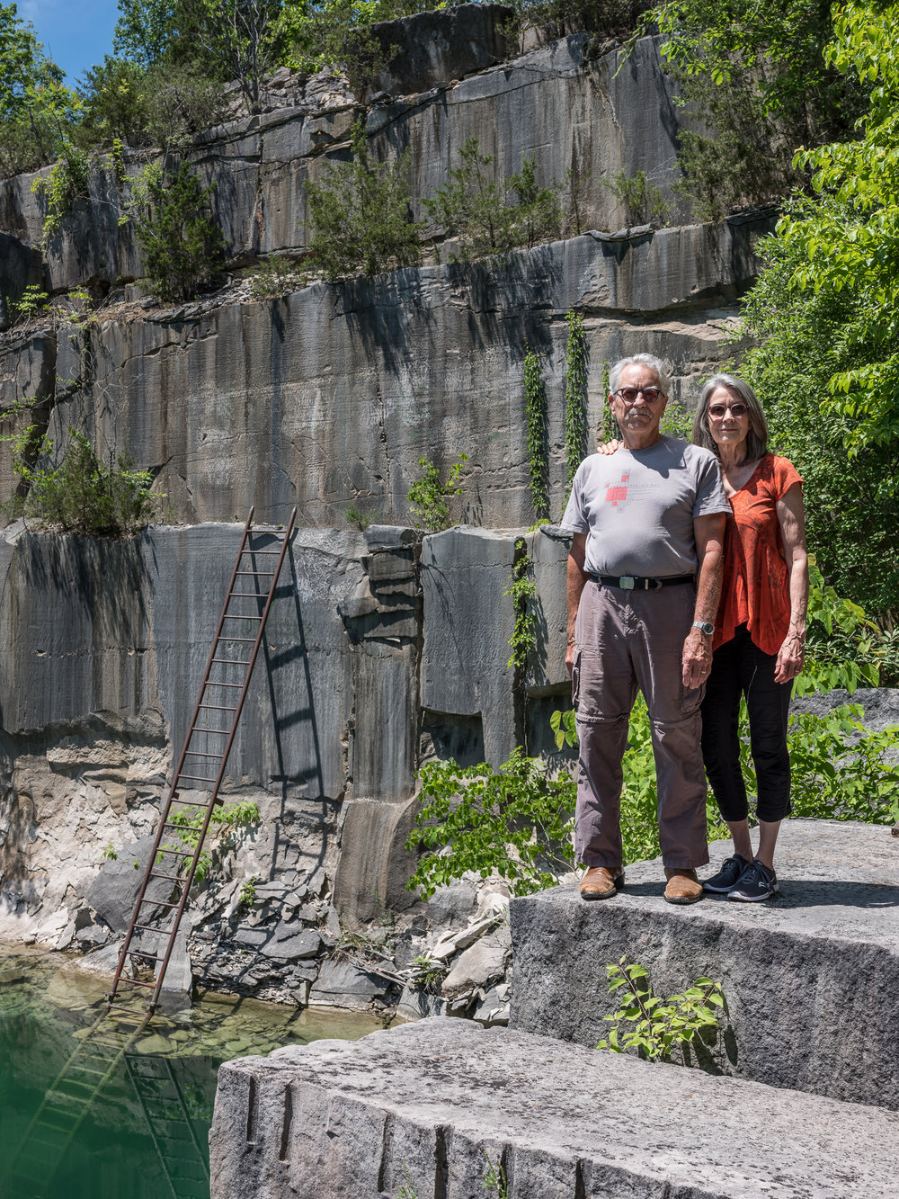 Duncan and Cathy at the Furst Quarry, Bloomington, Indiana, 2018
