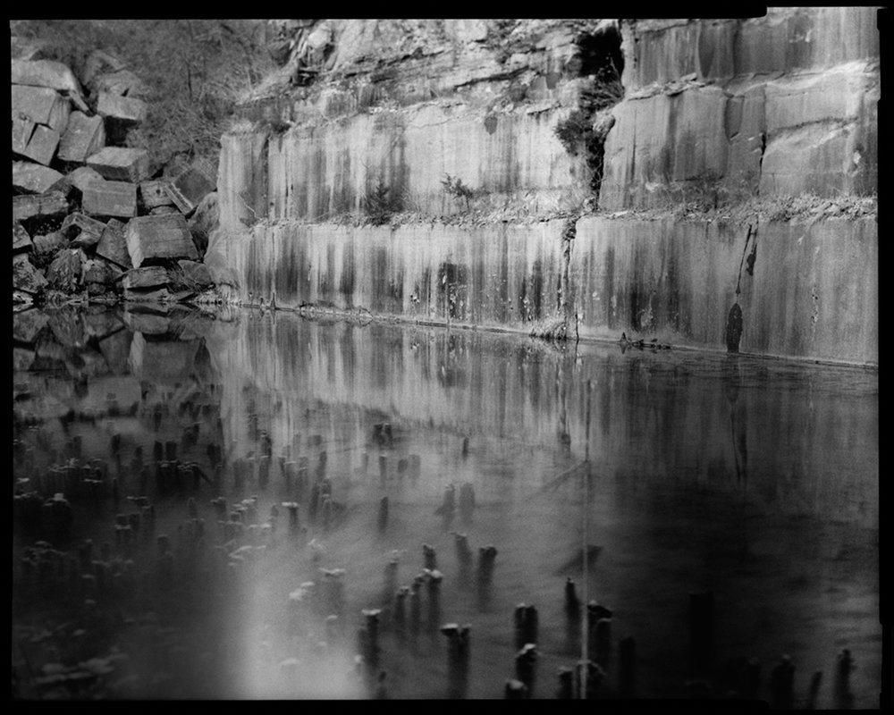 "Tomiko Jones, Empire Quarry, near Bloomington, Indiana, 2012 Pigment Print from Scanned Negative, Mounted on DiBond, Varnished, 30""x40"""