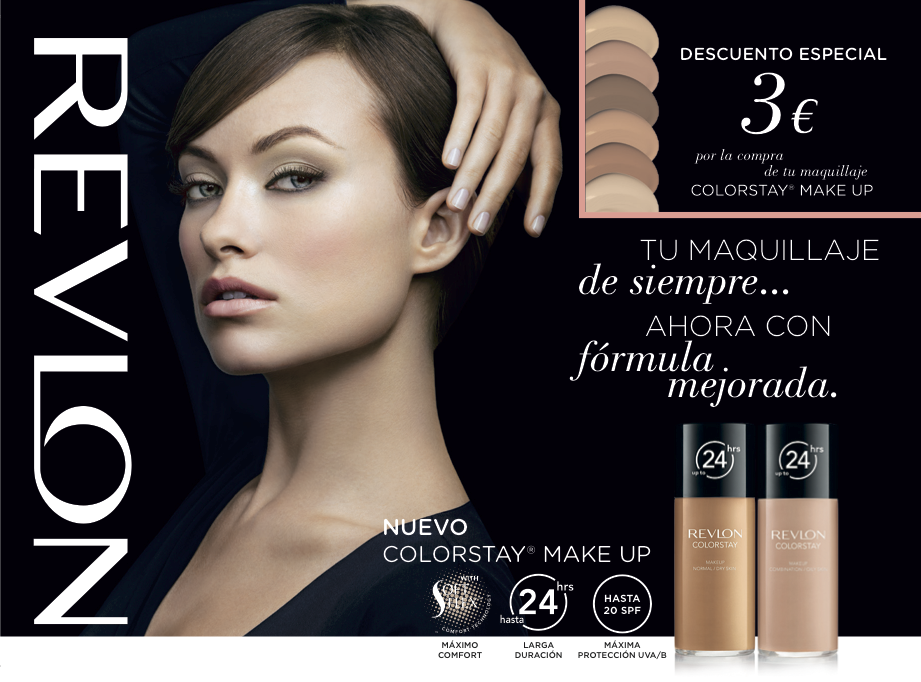 Cartel para Retail de Revlon Colorstay Make Up para España