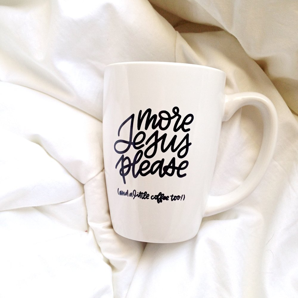 More Jesus Please Mug by Raw Sugar Writes
