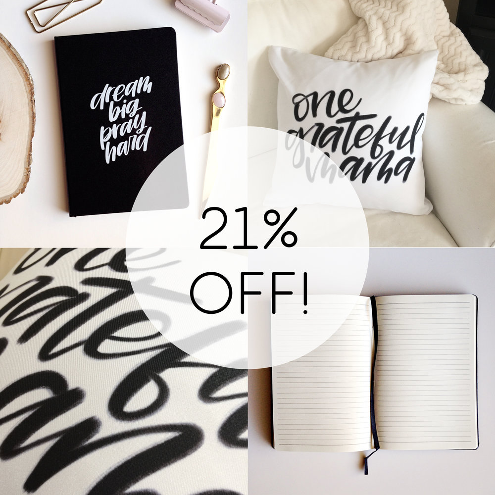 JOURNALS + PILLOWS  : 21% OFF  (Sale Prices: $11-$30)