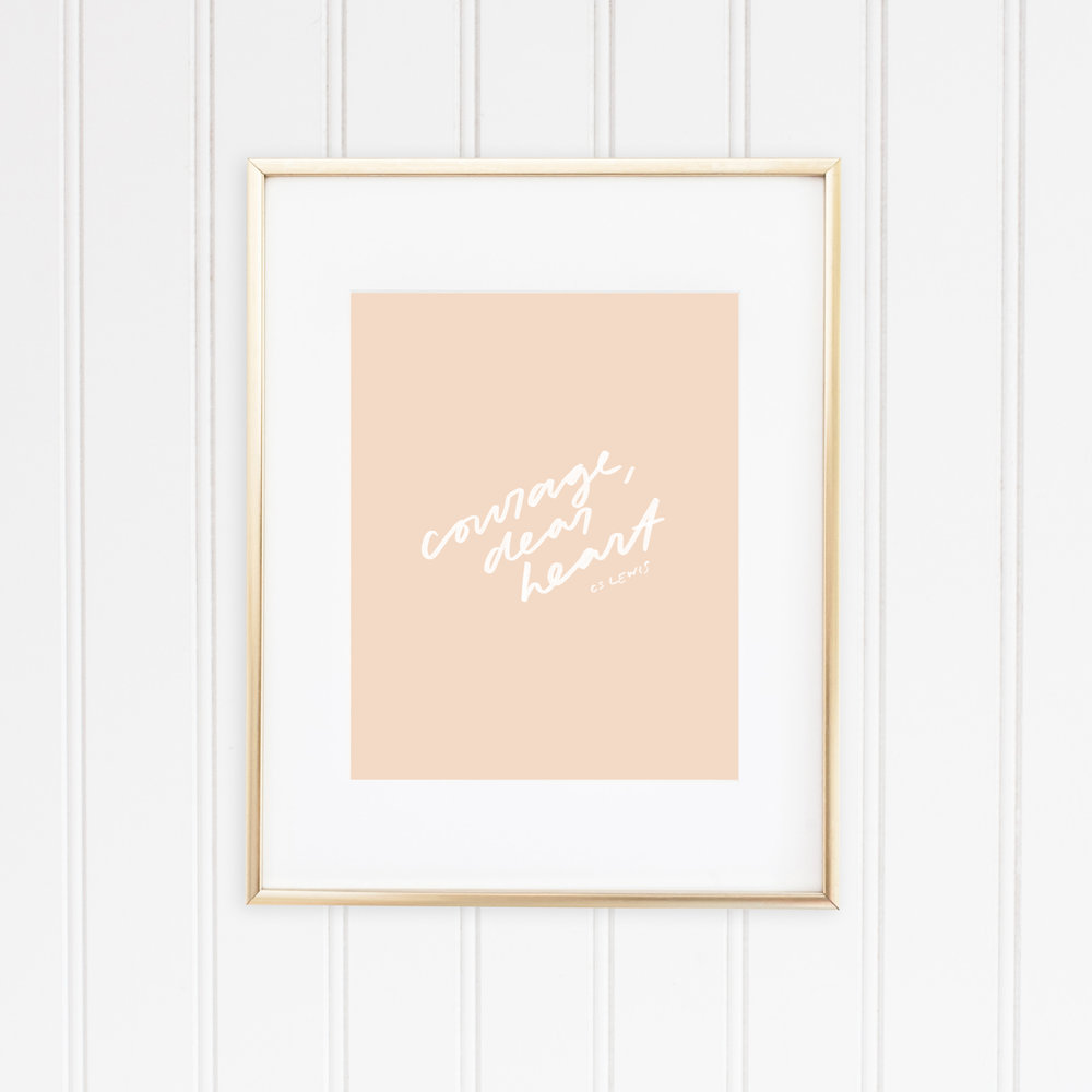 Courage dear heart MOCKUP_Gold Frame.jpg