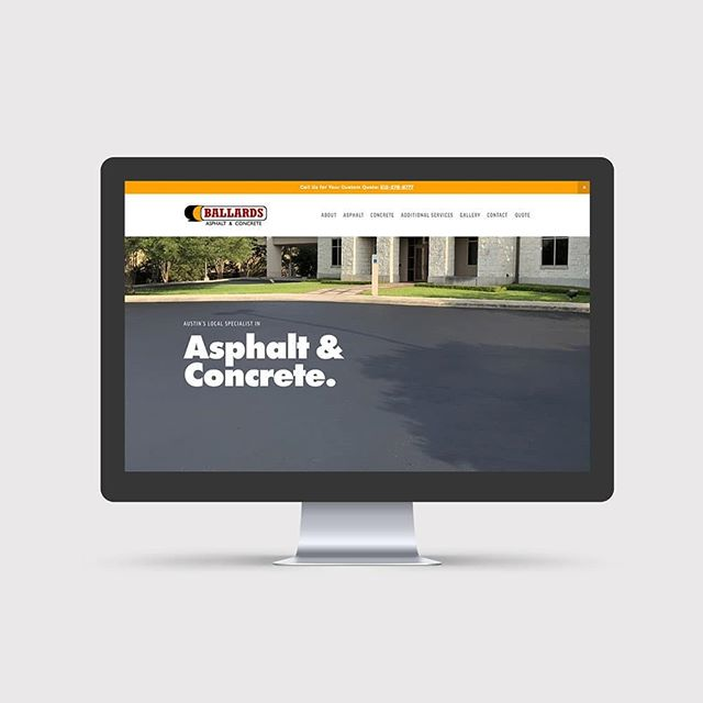 New website design for Ballard's Asphalt & Concrete ✨ make sure you 👉 Swipe left ballardsasphalt.com  #graphicdesign #webdesign #clientselfie #driveway #contractor #business #businesslady #businessowner #launch #summer2018 #designer #squarespace