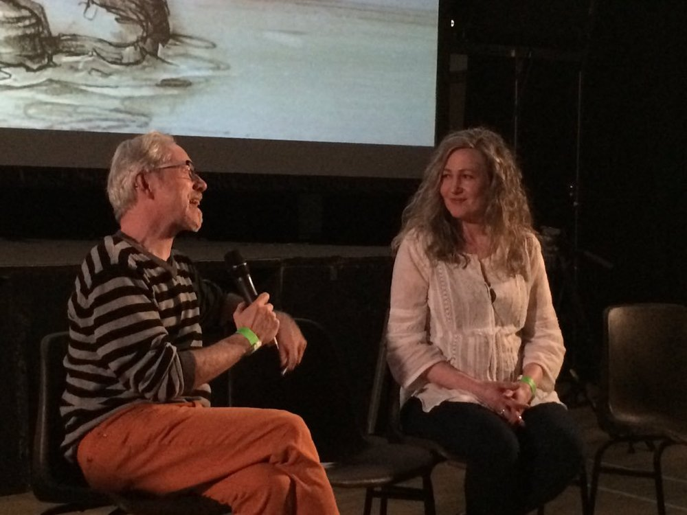 In conversation with Vincent Woods after a screening of Deargdhúil at Inish Island Conversations. The loveliest audience and Q&A yet!