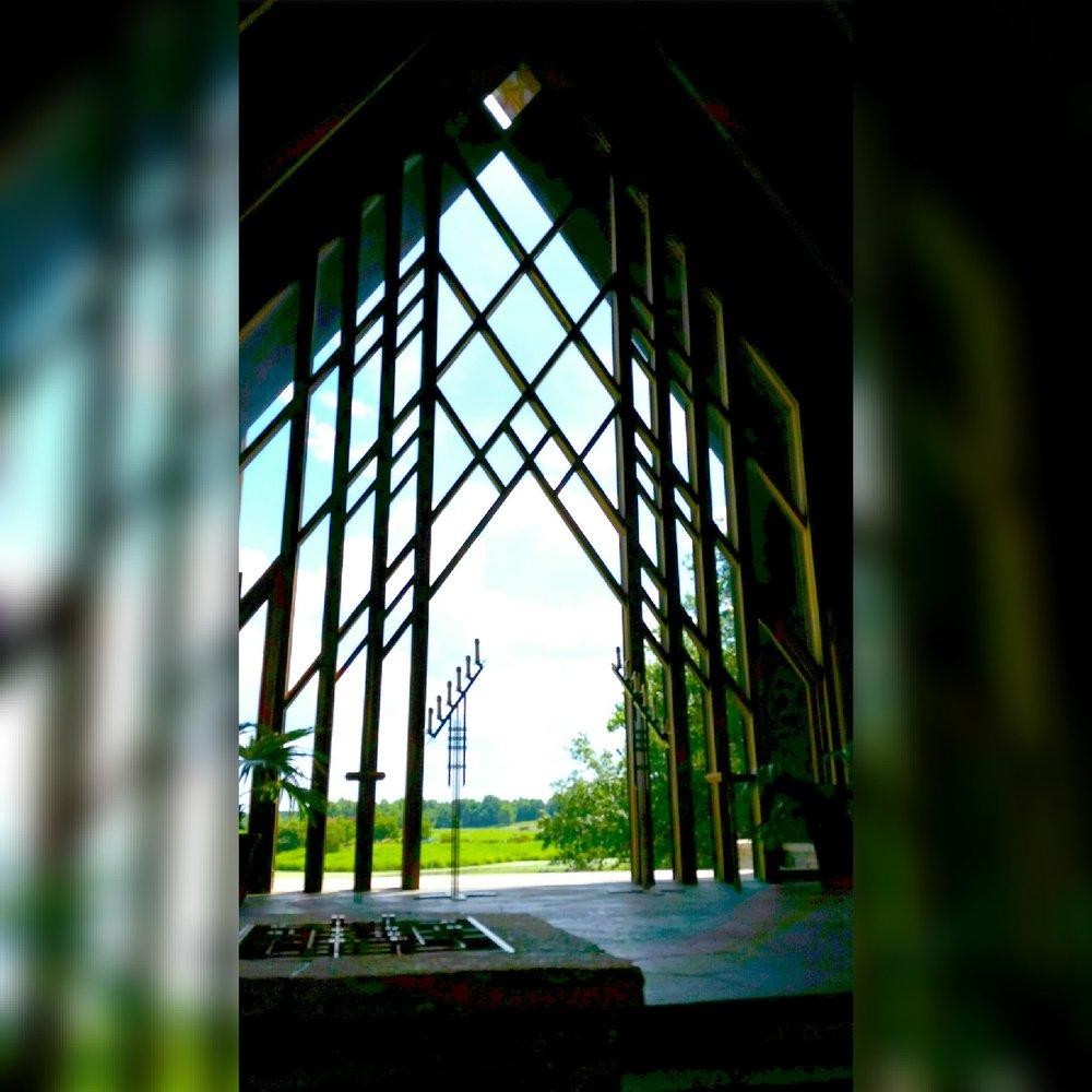 Spirituality can be a saving grace. It's a path to develop faith. (Brenda Kyle, Powell Gardens chapel)