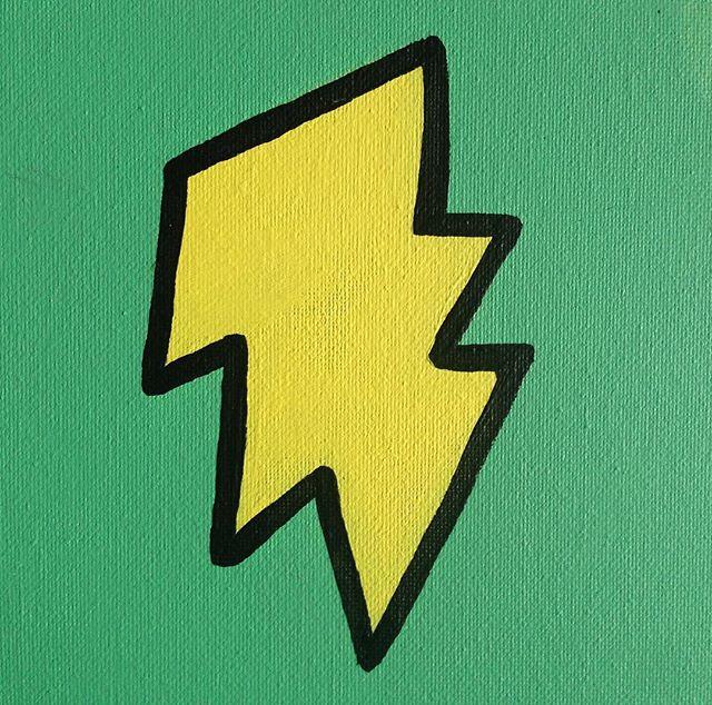 Robot detail 🎨 #lightningbolt #acrylicpainting #canvas