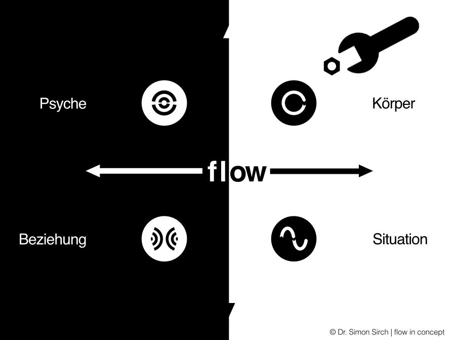 Die Stellschrauben für flow setzen in vier Bereichen an. Sie drehen an den Bedingungen.