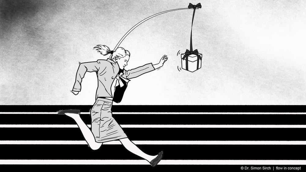 flow-feindliche Ziele bringen einen vielleicht vorwärts, aber erfüllen nicht auf Dauer.