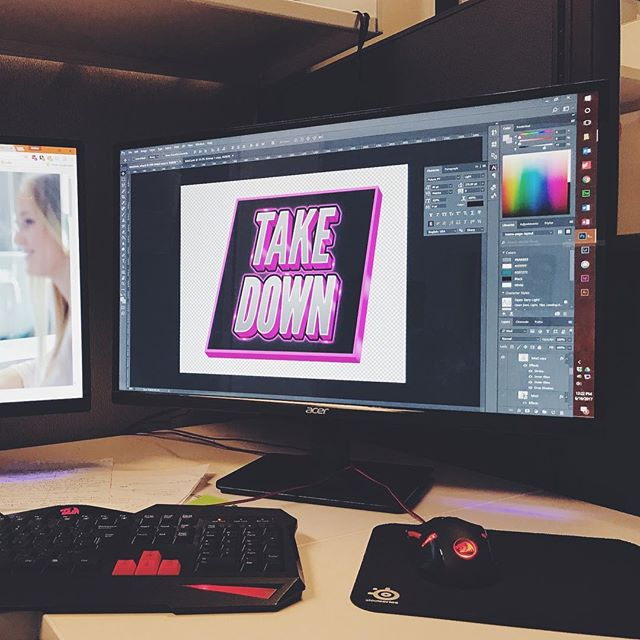 Just finishing up the latest logo revision. Not a bad way to start the week! #mondaymotivation #logo #90s #80s