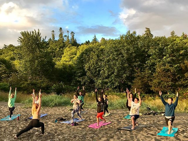 Summer Solstice Sunset Yoga at Golden Gardens.