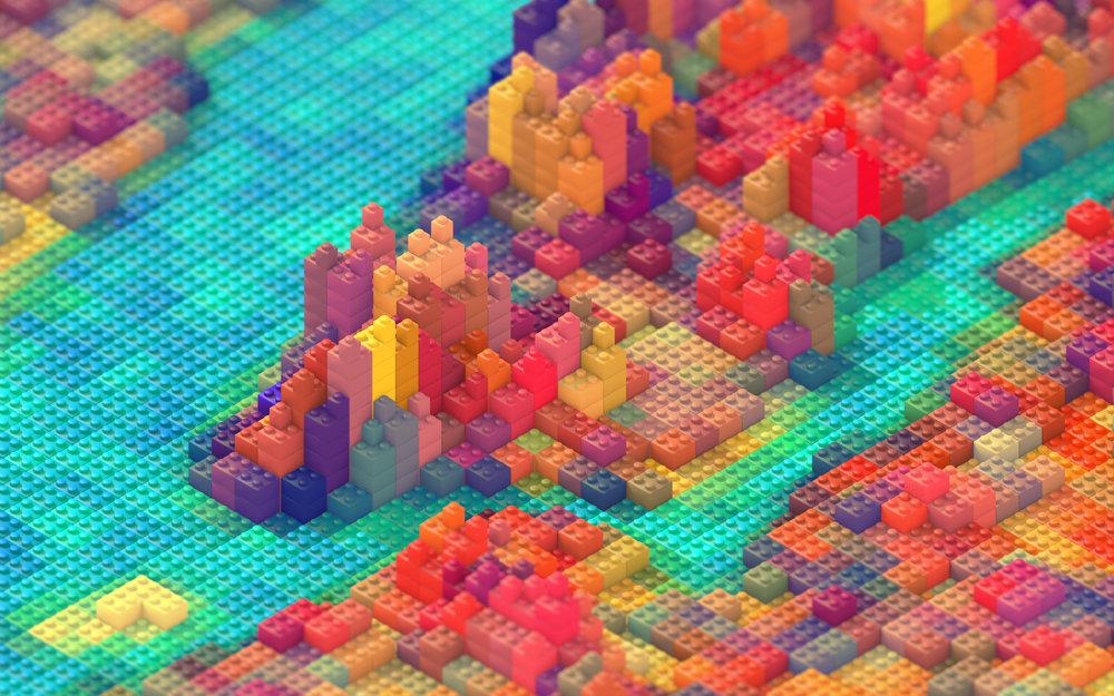 Lego New York by J.R. Schmidt