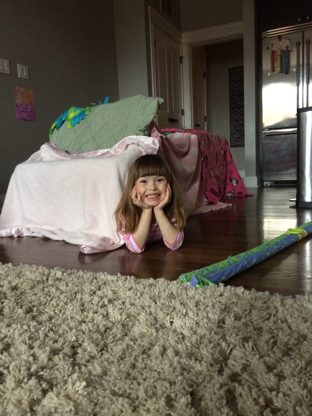 A small but mighty blanket fort!