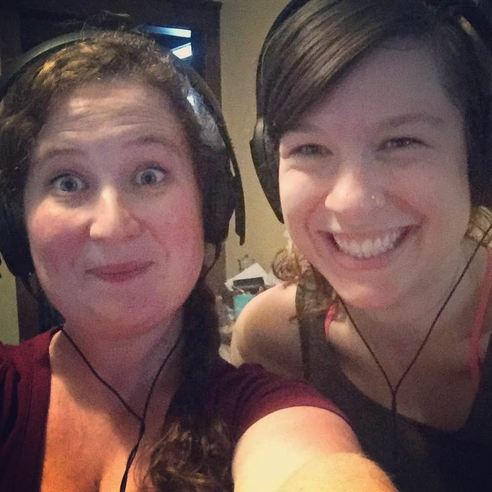 Leah Frires and I recording for this week's podcast!