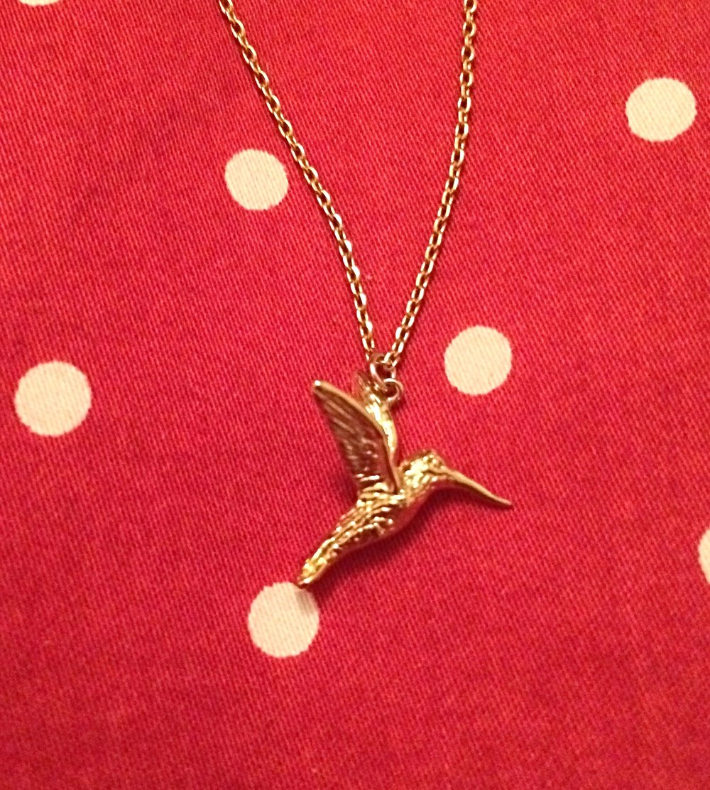 My very own Hummingbird necklace!