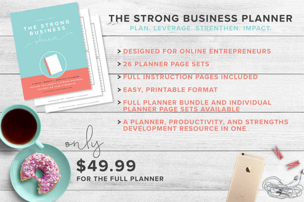 The Strong Business Planner - https://www.thestrongbusinessplanner.com