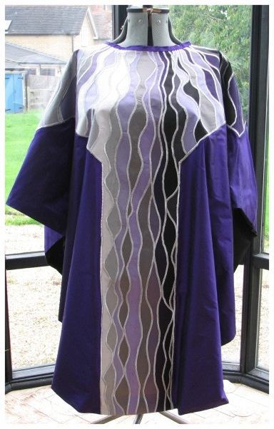Lent and Advent chasuble and stole set.