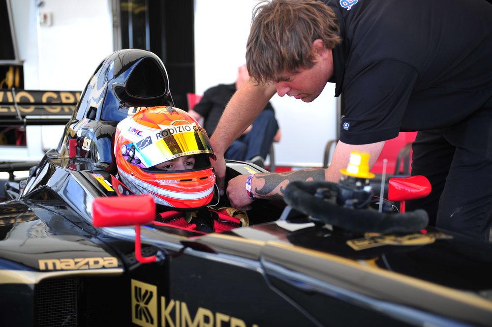 Bruno Carneiro and Kyle Hall. 2016 Formula Car Challenge, Mazda Raceway Laguna Seca