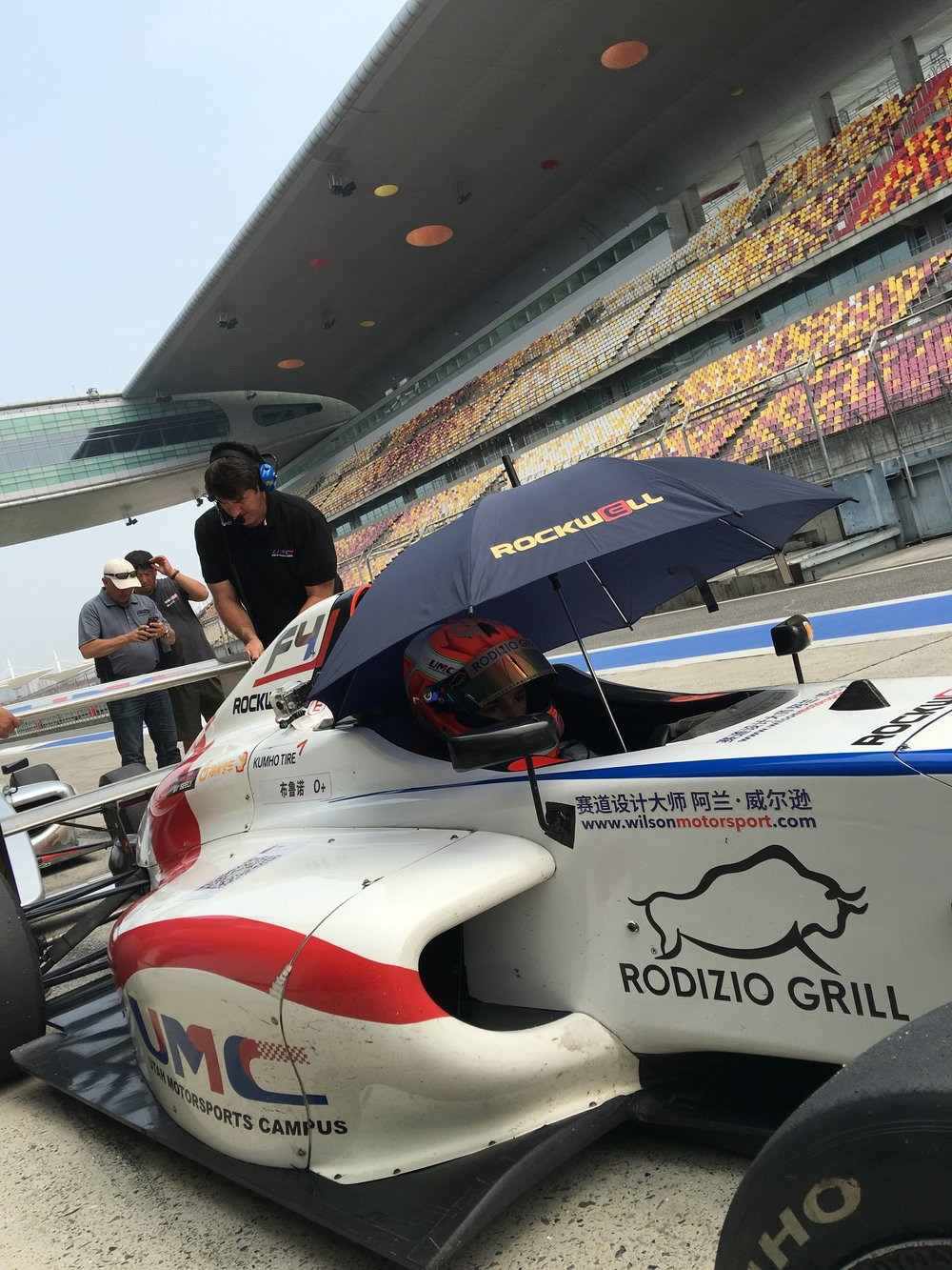 Bruno Carneiro waits for his turn to join the track during practice sessions at the Shanghai International Circuit (Sep.2016)