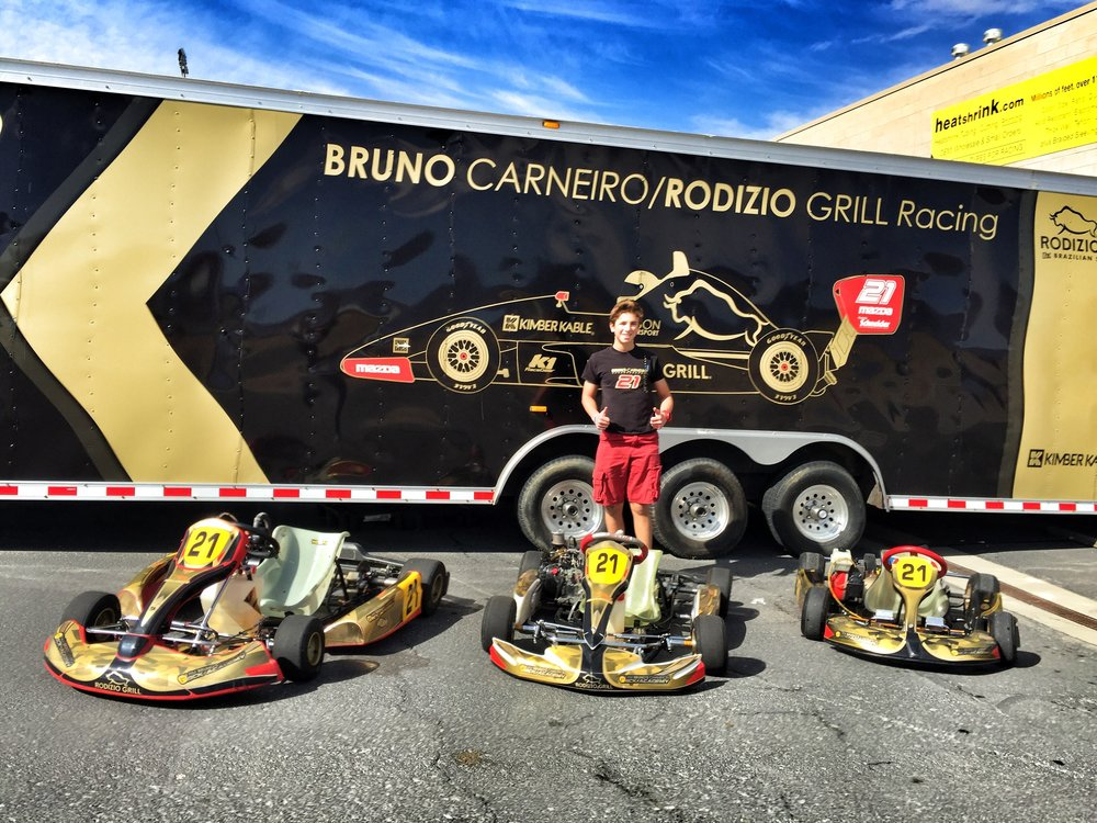 Bruno Carneiro and his BCK Academy Karts