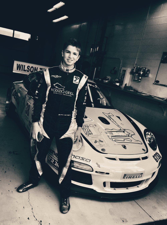 Bruno Carneiro prepares to have his first experience driving Wilson Motorsport's Porsche Pirelli Cup Car. Photo by Luigi Carneiro
