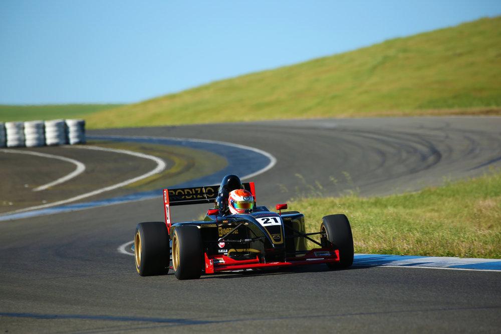 Bruno Carneiro races his 270hp Formula ProMazda at Thunderhill Raceway (Apr. 2016)