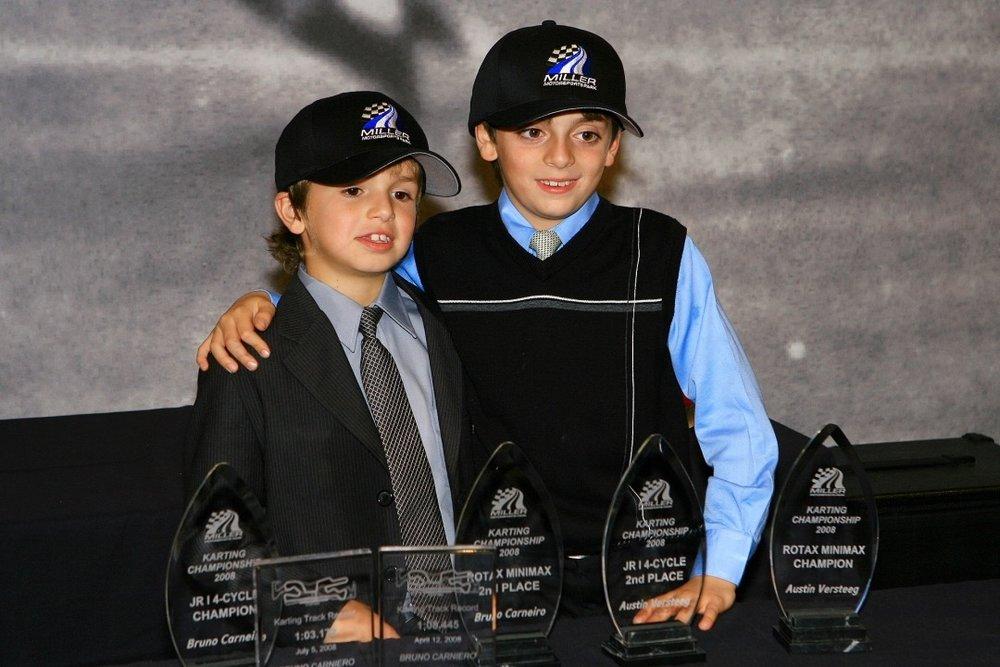 Bruno Carneiro and his then teammate Austin Versteeg (Nov. 2008)