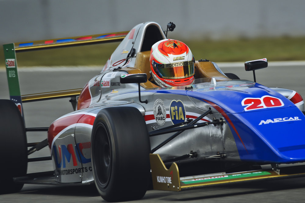 Bruno Carneiro claims 3rd Place at the main race of the 2015 FIA F4 Chinese Championship in Zhuhai, China (Nov. 2015) Phot by CFGP