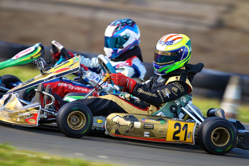 Bruno Carneiro races Callum Smith during the 2014 Challenge of the Americas (Mar. 2014)