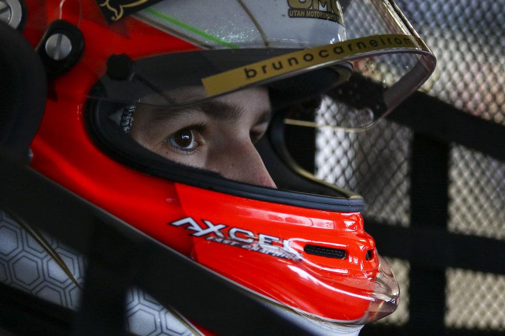 Bruno Carneiro ready to take the Mazda MX5 car on track during the 2015 MRT24 Shootout in Kershaw, South Carolina (NOV.2015) Photo courtesy of Mazda Motorsports