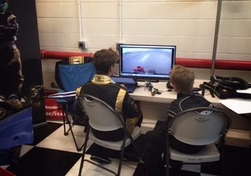 Bruno Carneirocoaching one of his karting students