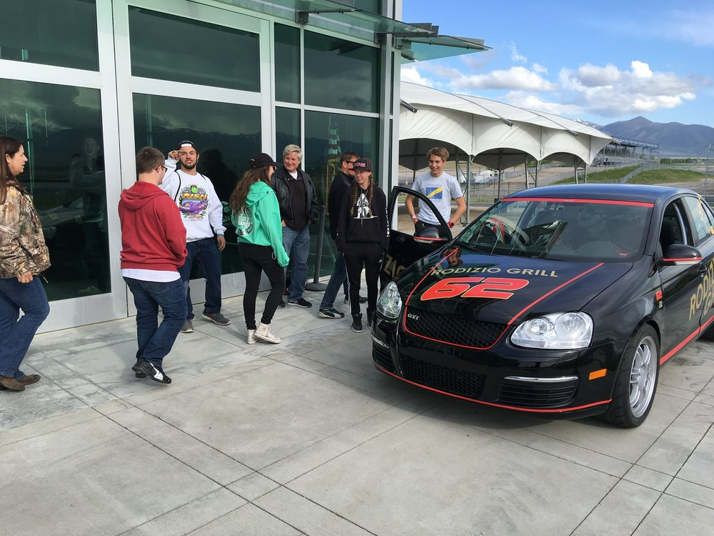 Bruno Carneiro takes clients for some hot laps on board Rodizio Grill's Jetta TDi