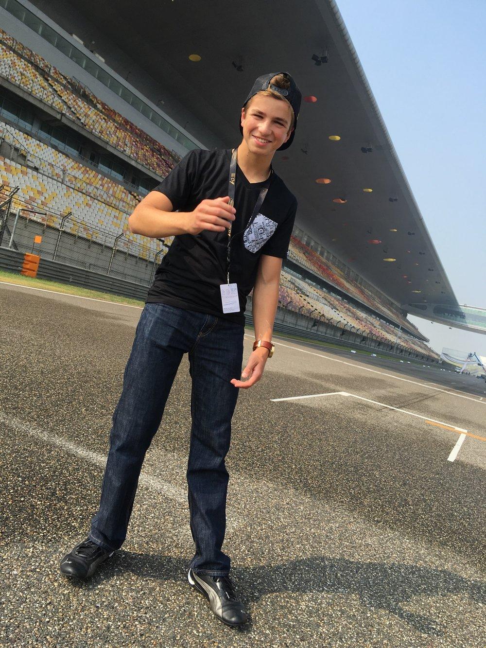 Bruno Carneiro at the Shanghai International Raceway, Shanghai, China (Sep.2016). Photo by Luigi Carneiro