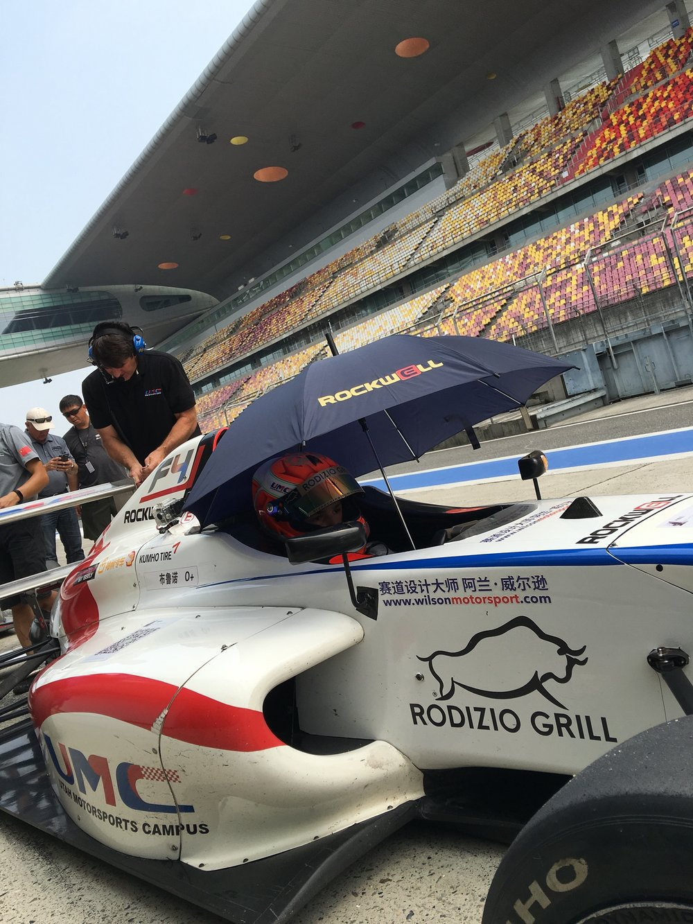 Bruno Carneiro during free practices for the 2016 FIA F4 Chinese Championship. Photo by Luigi Carneiro