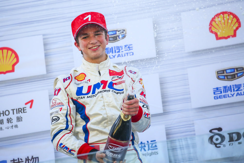 Bruno Carneiro wins Race 2 of the final round of the 2016 FIA F4 Chinese Championship