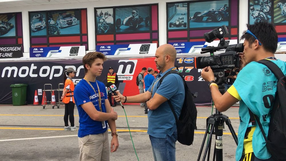 Interview during the 63rd Macau Grand Prix for the Macau/Portugal Television
