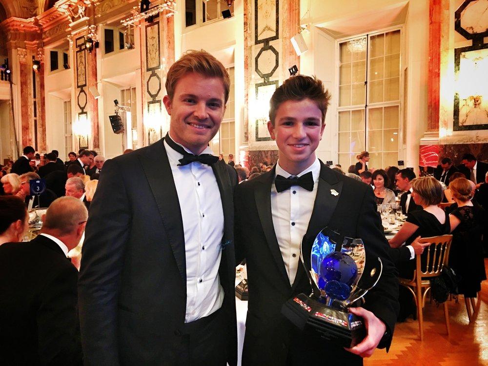 Nico Rosberg (Mercedes AMG F1) and Bruno Carneiro (UMC MiTime Team)