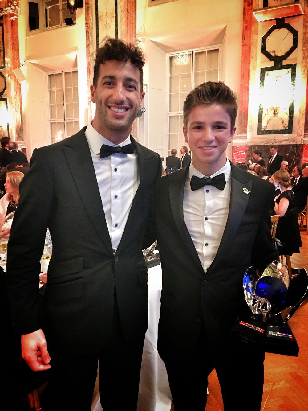 Daniel Ricciardo (RedBull F1 Driver) and Bruno Carneiro (UMC MiTime Racing)