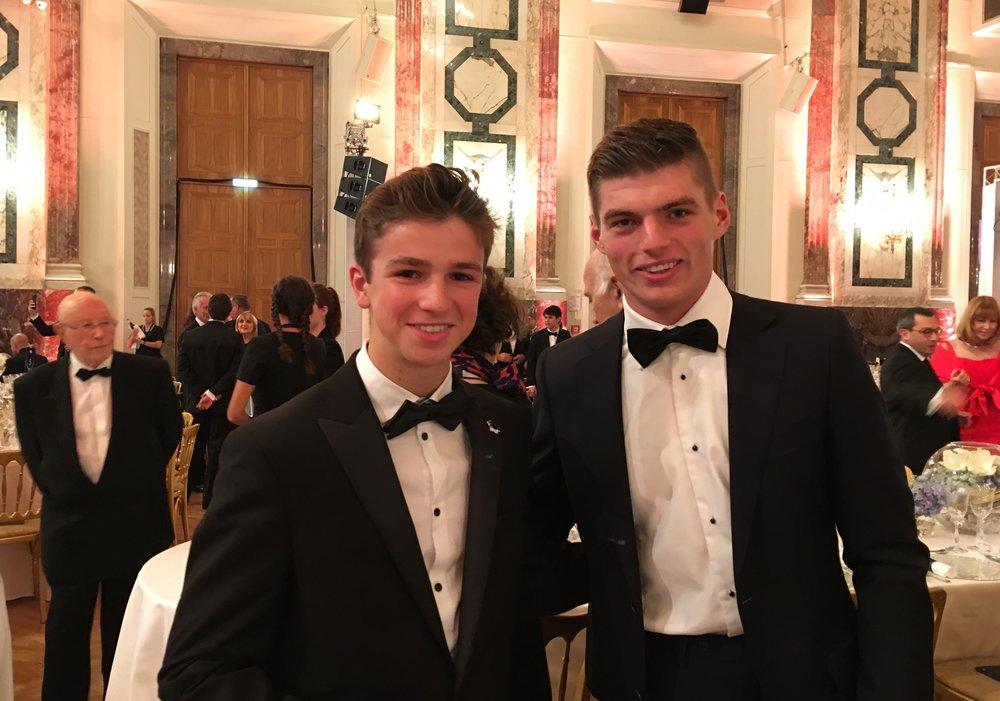 Bruno Carneiro (UMC MiTime Racing) and Max Verstappen (RedBull F1 Team)