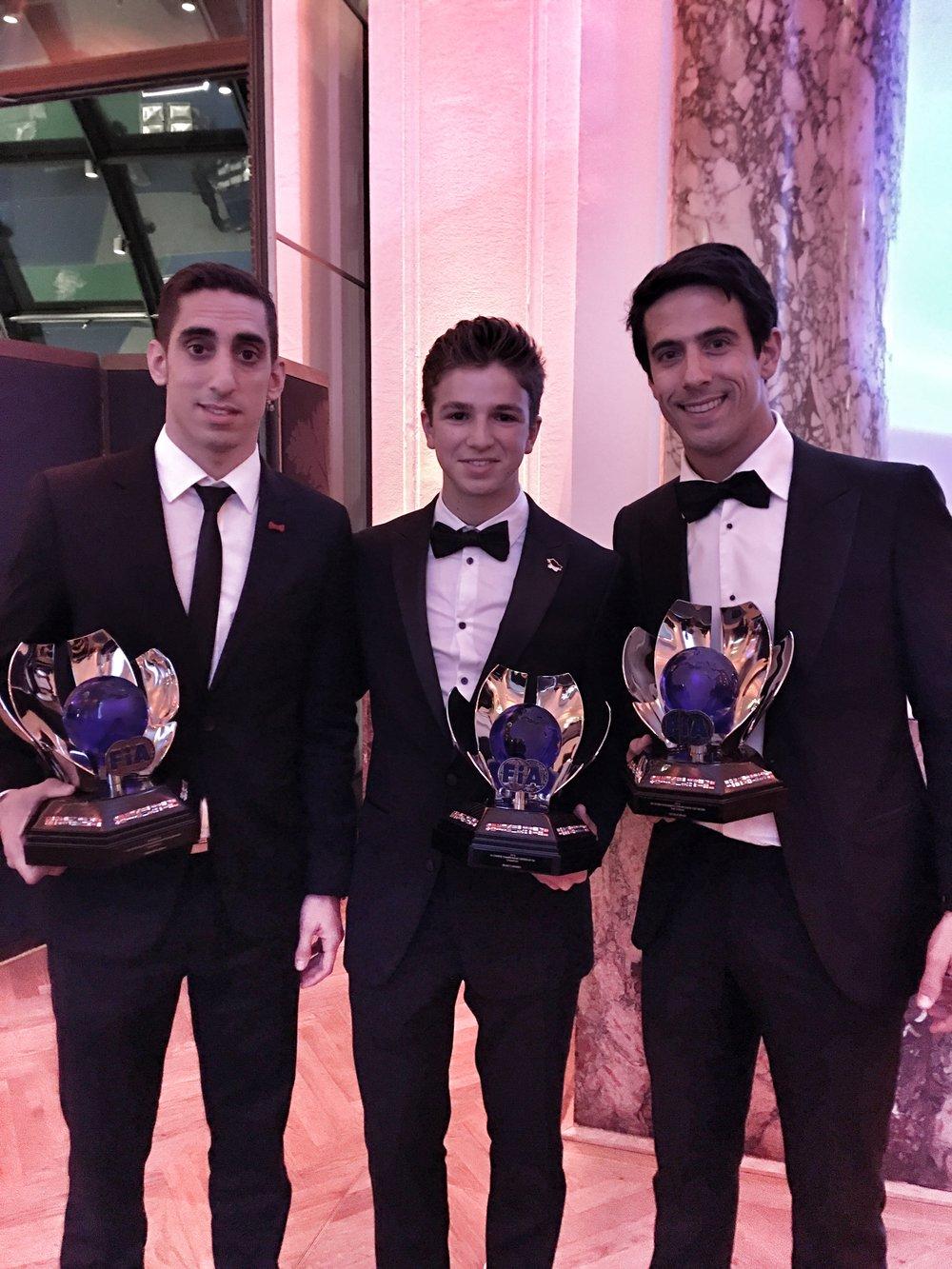Sebastian Buemi, Bruno Carneiro and Lucas DiGrassi