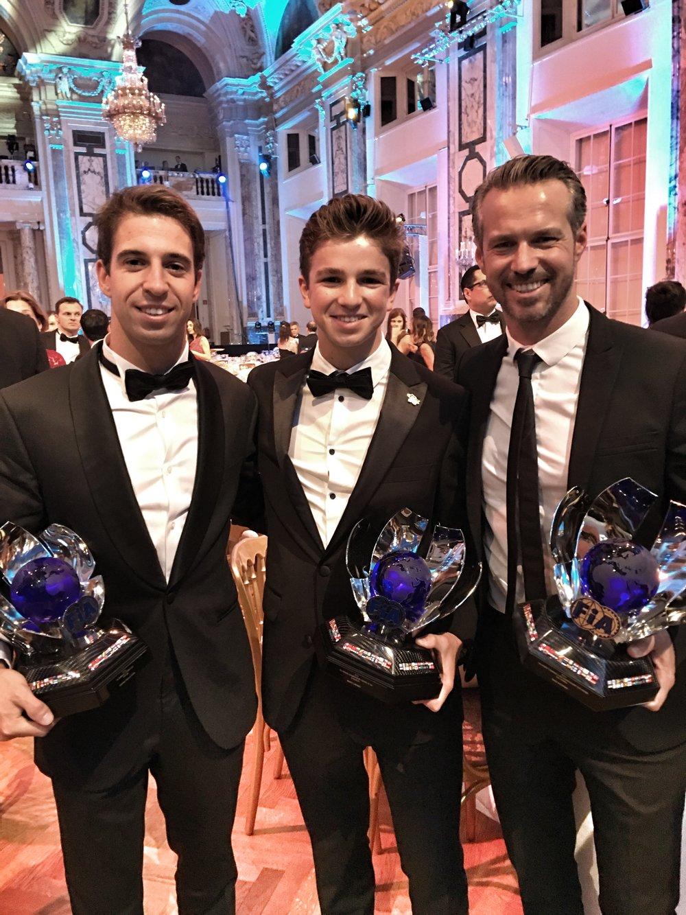Antonio Felix da Costa, Bruno Carneiro and Tiago Monteiro