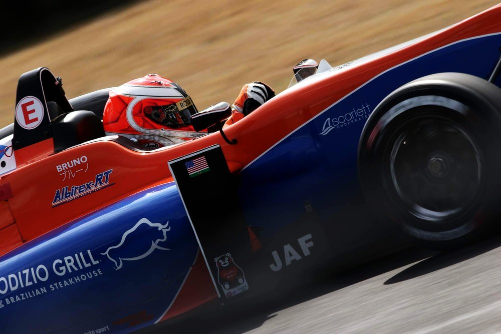 Bruno Carneiro (17) during his first race in the AlbirexRT Dallara-Mercedes F315