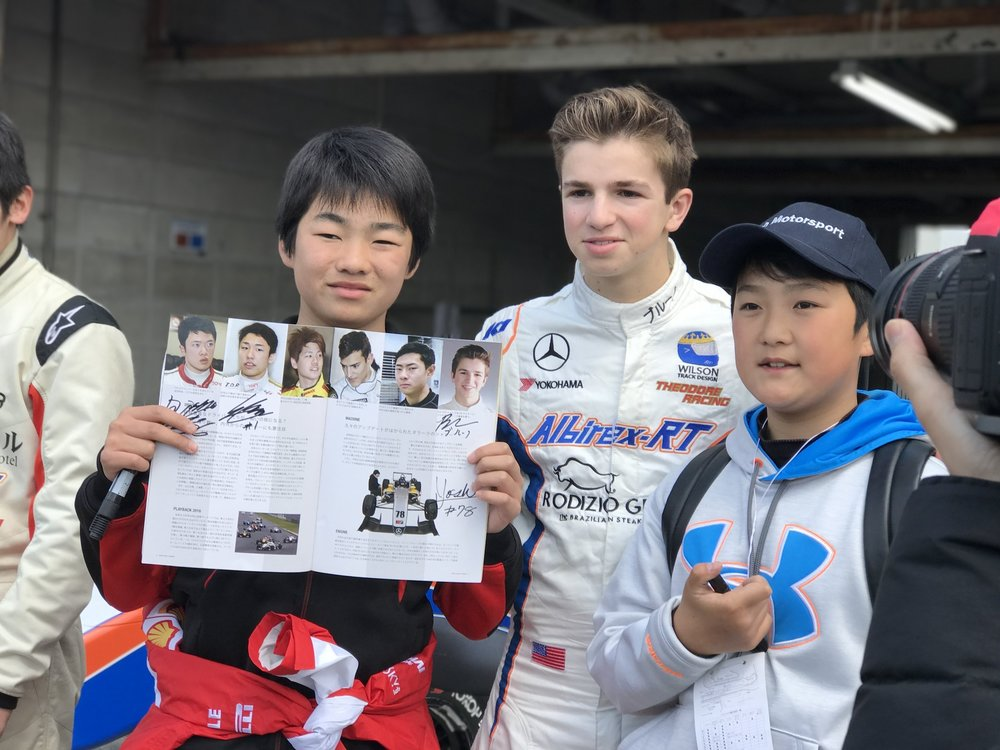 Bruno Carneiro (17) receives the love of his fans in Okayama, Japan (MAR 2017)