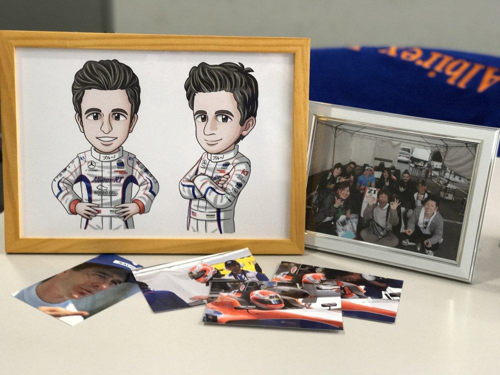 Bruno Carneiro receives beautiful gifts and an artwork from designer Kosei Myiata in Fuji, May 2017