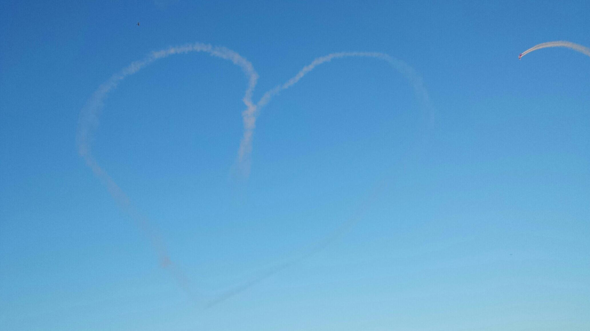 Heart in the sky (taken by him)