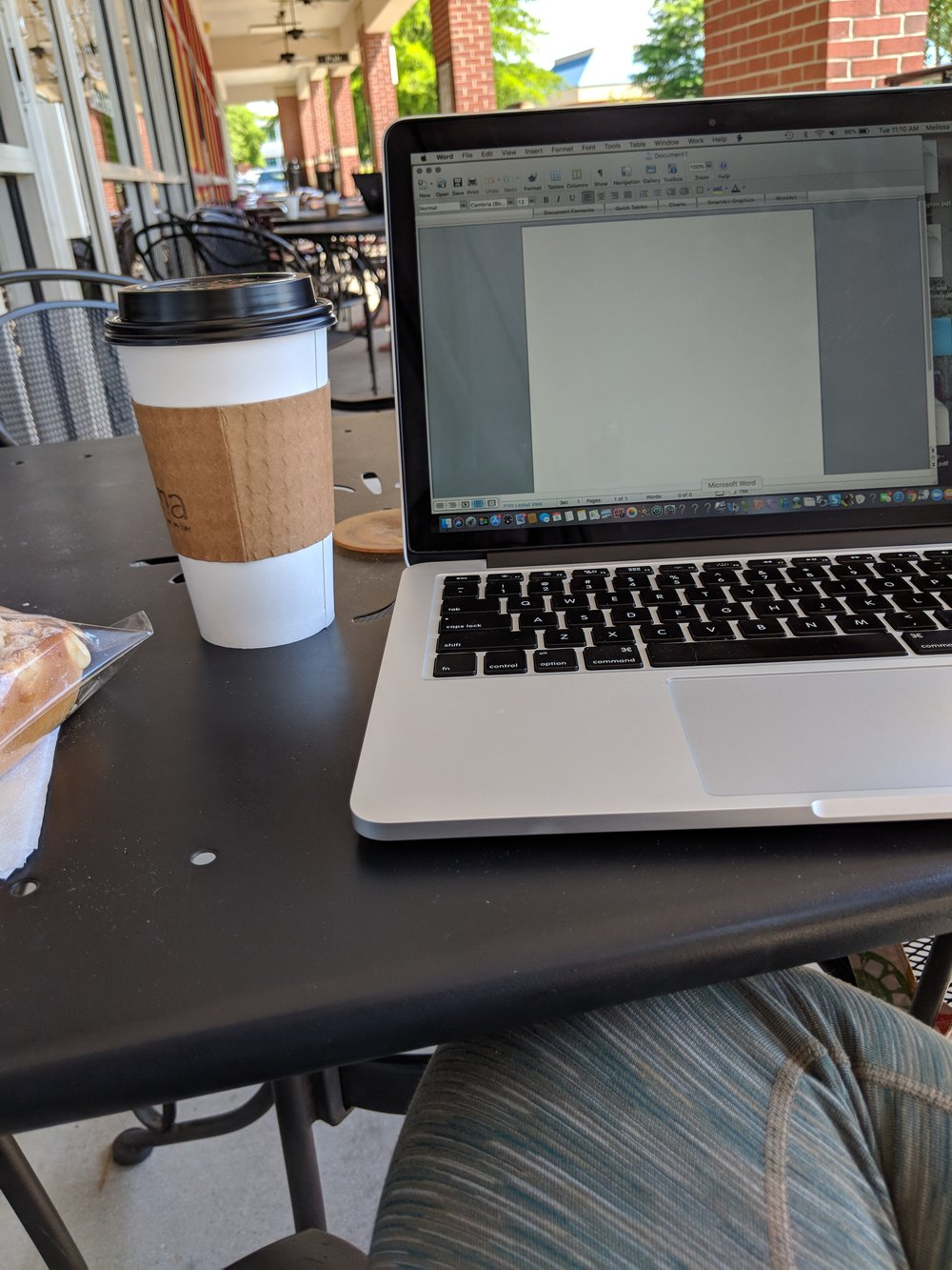 "{I wrote the first part of this post in a coffee shop one week ago.  I'm finishing this post from ""my"" recliner}"