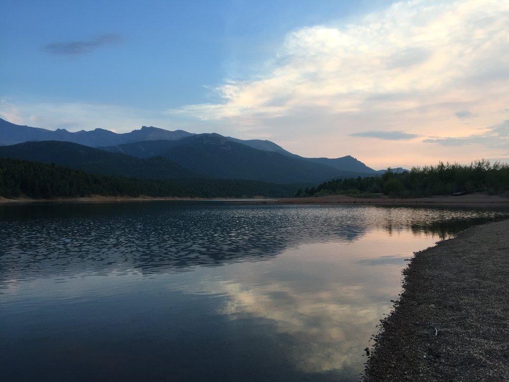 Crystal Lake at approximately 9,230 feet