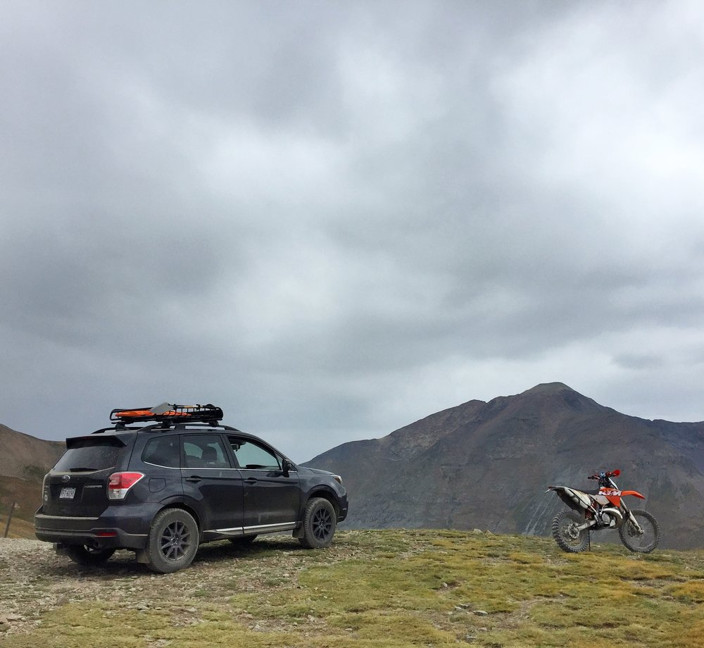 Top of Cinnamon Pass - 12,600'