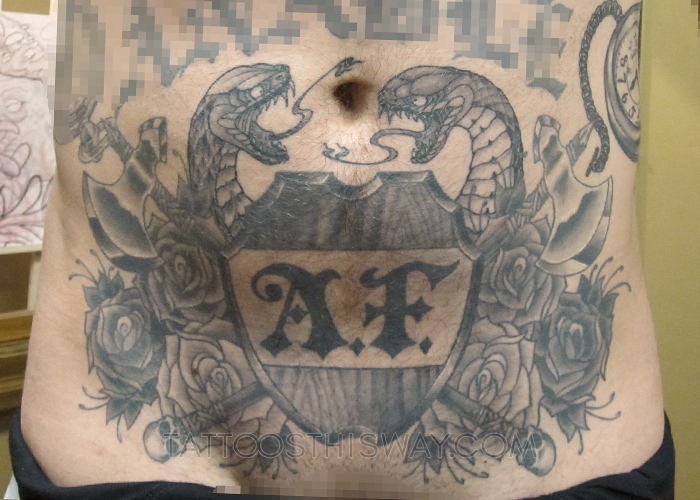 tattoos this way black and grey gray ben snakes.jpg