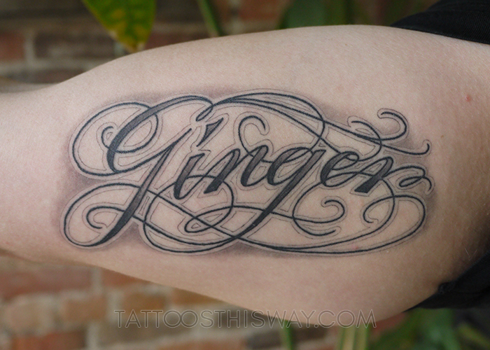 tattoos this way ginger script lettering tattoo P1000952.jpg