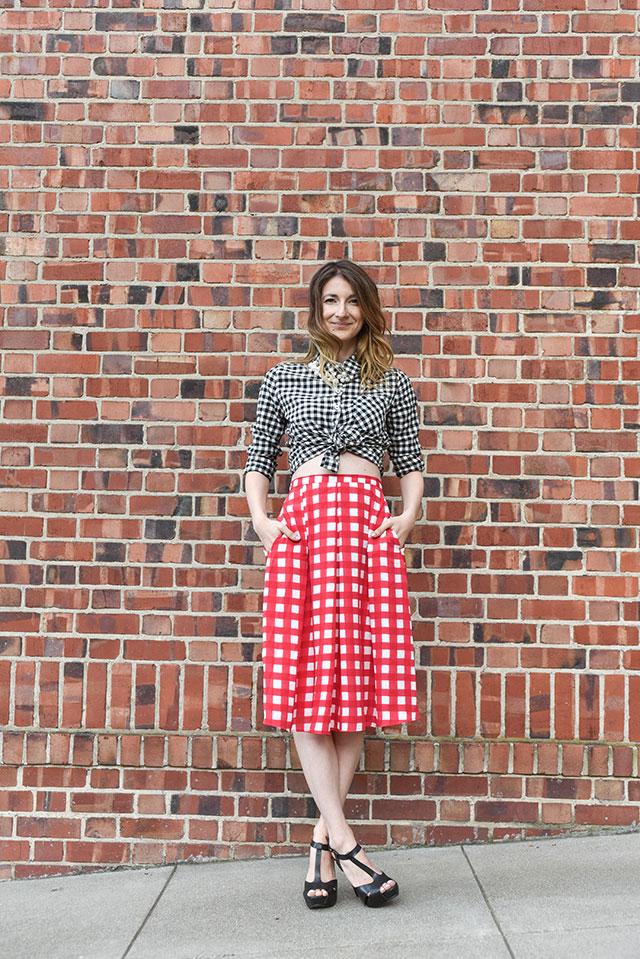 AQUA-Skirt--CharlieCheckPleated-1